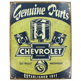 Chevrolet Parts & Pistons Metal Sign